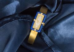 Chopard Rare Chopard Kutchinsky 1970s 18kt YG Lapis Pave Diamond Set Dial Wristwatch - 434890