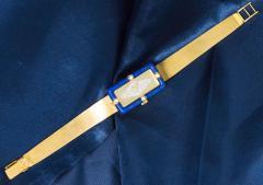 Chopard Rare Chopard Kutchinsky 1970s 18kt YG Lapis Pave Diamond Set Dial Wristwatch - 434893