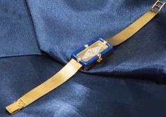 Chopard Rare Chopard Kutchinsky 1970s 18kt YG Lapis Pave Diamond Set Dial Wristwatch - 434894