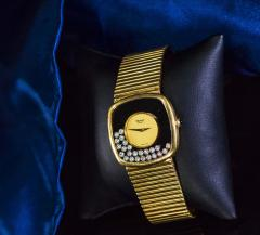 Chopard Special Order 1970s Chopard James Bond Happy Diamond 18kt Bracelet Wristwatch - 1206754