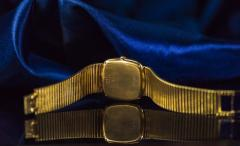 Chopard Special Order 1970s Chopard James Bond Happy Diamond 18kt Bracelet Wristwatch - 1206755