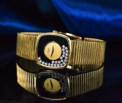 Chopard Special Order 1970s Chopard James Bond Happy Diamond 18kt Bracelet Wristwatch - 1206756