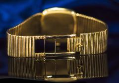 Chopard Special Order 1970s Chopard James Bond Happy Diamond 18kt Bracelet Wristwatch - 1206757