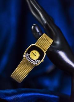 Chopard Special Order 1970s Chopard James Bond Happy Diamond 18kt Bracelet Wristwatch - 1206758