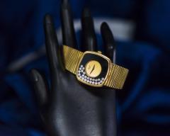 Chopard Special Order 1970s Chopard James Bond Happy Diamond 18kt Bracelet Wristwatch - 1206759