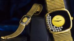 Chopard Special Order 1970s Chopard James Bond Happy Diamond 18kt Bracelet Wristwatch - 1206760