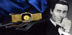 Chopard Special Order 1970s Chopard James Bond Happy Diamond 18kt Bracelet Wristwatch - 1206761