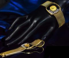 Chopard Special Order 1970s Chopard James Bond Happy Diamond 18kt Bracelet Wristwatch - 1206763