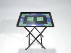 Christian Dior Christian Dior faux malachite folding tray table 1970s - 993079