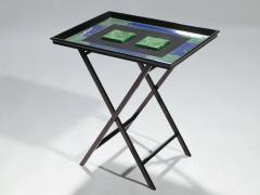 Christian Dior Christian Dior faux malachite folding tray table 1970s - 993080