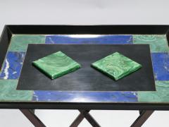 Christian Dior Christian Dior faux malachite folding tray table 1970s - 993081