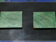 Christian Dior Christian Dior faux malachite folding tray table 1970s - 993083