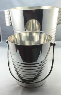 Christofle Christofle Luc Lanel Normandie Art Deco Ondulations Ice bucket - 1370466