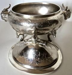 Clive Devenish Antiques Silver Plated Covered Tureen with Deer Ram Motif Circa 1885 Meriden  - 744261