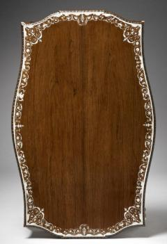 Collinson and Lock Finest Museum Standard Rosewood and Ivory Inlaid Occassional Center Table - 1141204