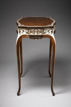 Collinson and Lock Finest Museum Standard Rosewood and Ivory Inlaid Occassional Center Table - 1141207