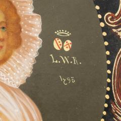Colot Miniature portrait on vellum - 1725523
