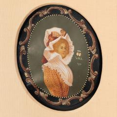 Colot Miniature portrait on vellum - 1725527