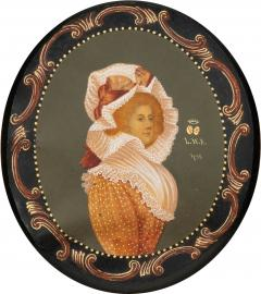 Colot Miniature portrait on vellum - 1727322