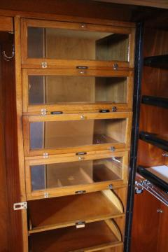Compactom 1930s Mahogany All Fitted Closet Compactom Steamer Trunk   129363