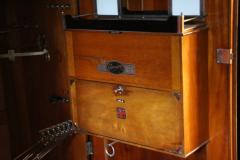 Compactom 1930s Very Large All Fitted Closet Extra Large Mahogany Steamer  Trunk   129337