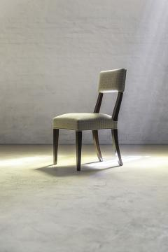 Constantini High Back Dining Chair in Argentine Rosewood and Fabric from Costantini Luca - 1966101