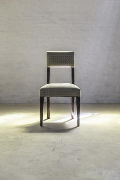 Constantini High Back Dining Chair in Argentine Rosewood and Fabric from Costantini Luca - 1966102