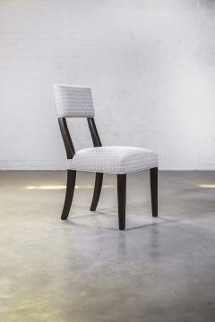 Constantini High Back Dining Chair in Argentine Rosewood and Fabric from Costantini Luca - 1966103