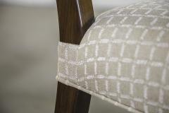 Constantini High Back Dining Chair in Argentine Rosewood and Fabric from Costantini Luca - 1966108