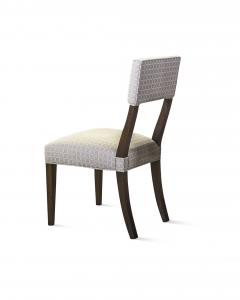 Constantini High Back Dining Chair in Argentine Rosewood and Fabric from Costantini Luca - 1967181