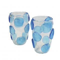 Constantini Pair of Mid Century Modern Costantini Murano Glass Italian Vases - 1667125