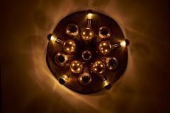 Cosack Leuchten Large Sputnik Space Age Flushmount or Wall Lamp in Brass - 1833202
