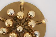 Cosack Leuchten Large Sputnik Space Age Flushmount or Wall Lamp in Brass - 1833205