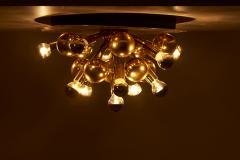 Cosack Leuchten Large Sputnik Space Age Flushmount or Wall Lamp in Brass - 1833206