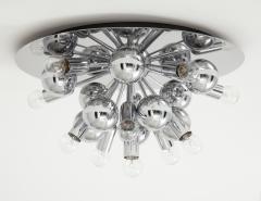 Cosack Leuchten Pair of 1970s Chrome Sputnik Lights - 998286