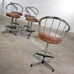 Cosco 5 cosco vintage modern chrome bar or counter stools - 1598373
