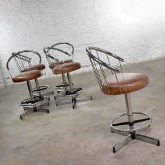 Cosco 5 cosco vintage modern chrome bar or counter stools - 1598374
