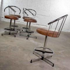 Cosco 5 cosco vintage modern chrome bar or counter stools - 1598376
