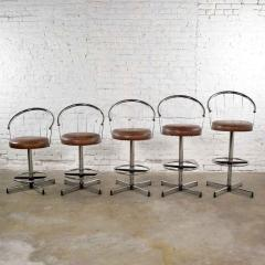 Cosco 5 cosco vintage modern chrome bar or counter stools - 1598377