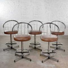 Cosco 5 cosco vintage modern chrome bar or counter stools - 1598379