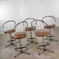 Cosco 5 cosco vintage modern chrome bar or counter stools - 1598381