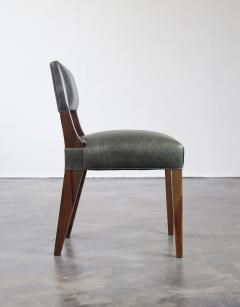 Costantini Design Bruno Low Dining Side Chair in Argentine Rosewood and Leather from Costantini - 1879058