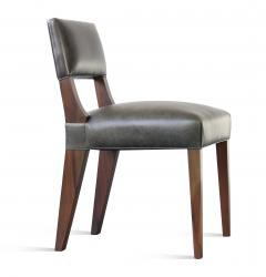 Costantini Design Bruno Low Dining Side Chair in Argentine Rosewood and Leather from Costantini - 1879060