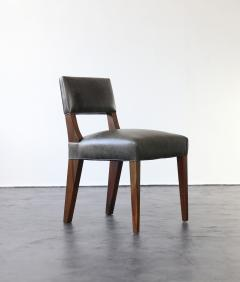 Costantini Design Bruno Low Dining Side Chair in Argentine Rosewood and Leather from Costantini - 1879061