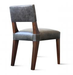 Costantini Design Bruno Low Dining Side Chair in Argentine Rosewood and Leather from Costantini - 1879062