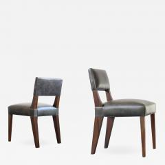 Costantini Design Bruno Low Dining Side Chair in Argentine Rosewood and Leather from Costantini - 1880490