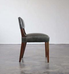 Costantini Design Bruno Low Side Chair in Argentine Rosewood and Leather from Costantini - 1563644