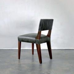 Costantini Design Bruno Low Side Chair in Argentine Rosewood and Leather from Costantini - 1563645
