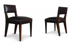 Costantini Design Bruno Low Side Chair in Argentine Rosewood and Leather from Costantini - 1563834