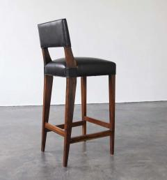 Costantini Design Bruno Stool from Costantini in Argentine Rosewood and Leather - 1563698